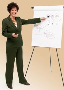 Vicki presenting